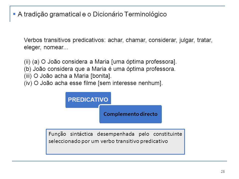 29 Funções sintácticas Qual o problema dos complementos circunstanciais.