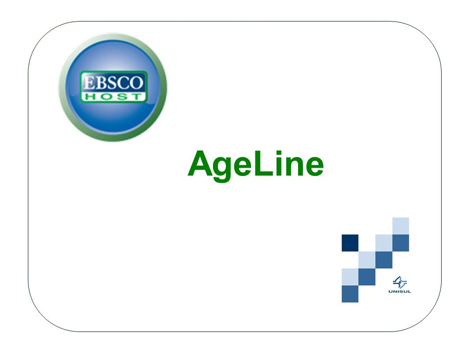 O AgeLine é a fonte premier da literatura de gerontologia social e inclui conteúdo relacionado a envelhecimento das ciências biológicas, psicologia, sociologia, assistência social, economia e política pública.
