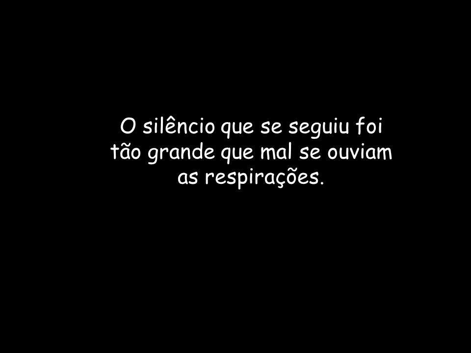 O silêncio que se seguiu foi tão grande que mal se ouviam as respirações.