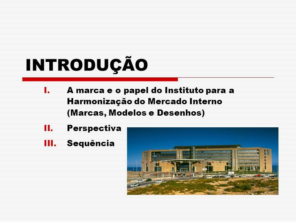 I.A marca e o papel do Instituto para a Harmonização do Mercado Interno (Marcas, Modelos e Desenhos) II.Perspectiva III.Sequência INTRODUÇÃO