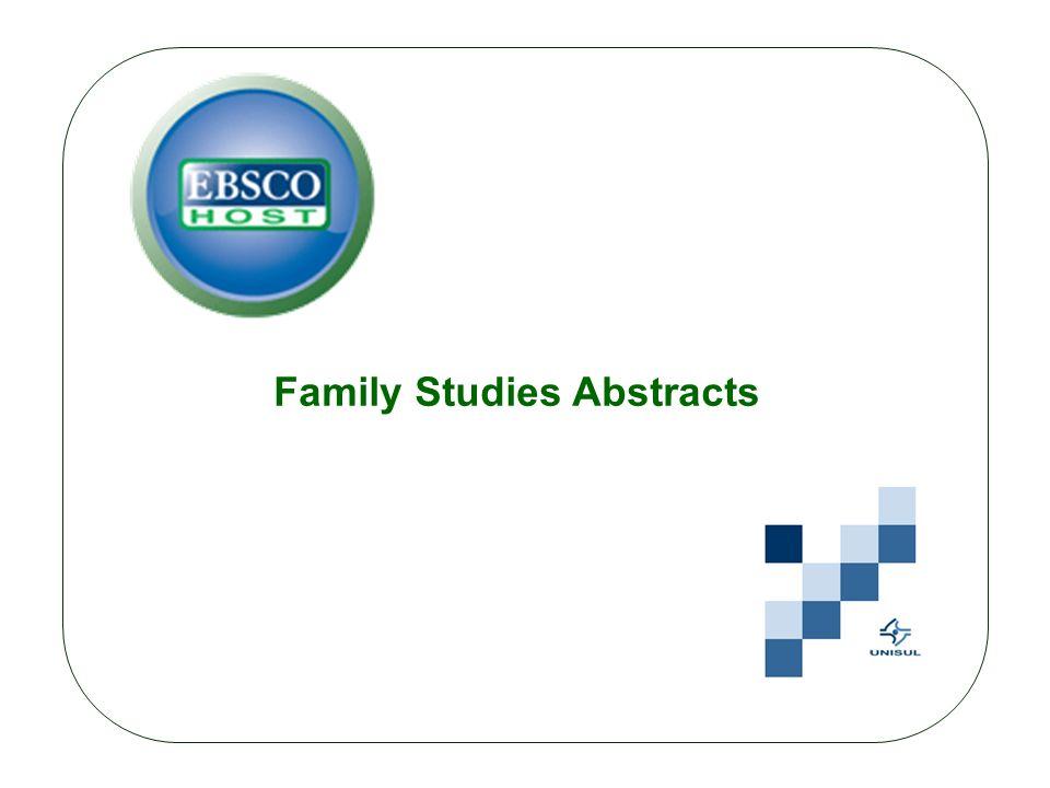 Inclui registros bibliográficos que abrangem áreas essenciais relacionadas aos estudos da família, incluindo casamento, divórcio, terapia de família e outras áreas de importância chave para a disciplina.