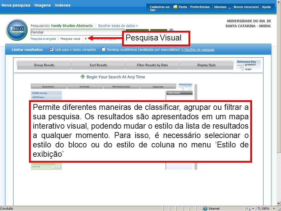 Ao fazer a seleção do artigo, seus dados aparecerão no na ultima coluna a direita, e ao clicar sobre o item More você visualizará o artigo