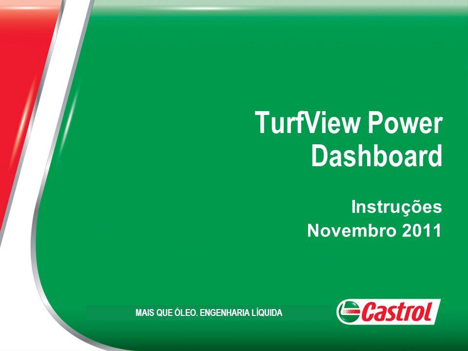 TurfView Power Dashboard Instruções Novembro 2011 MAIS QUE ÓLEO. ENGENHARIA LÍQUIDA