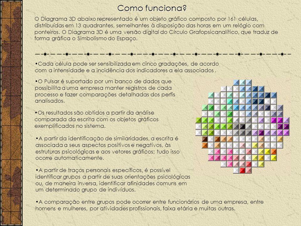 Diagrama 3D O Diagrama 3D – 13 quadrantes e 161 coordenadas Cada uma das 161 células do Diagrama 3D está associada a um grupo combinado de aspecto–indicador–polaridade.