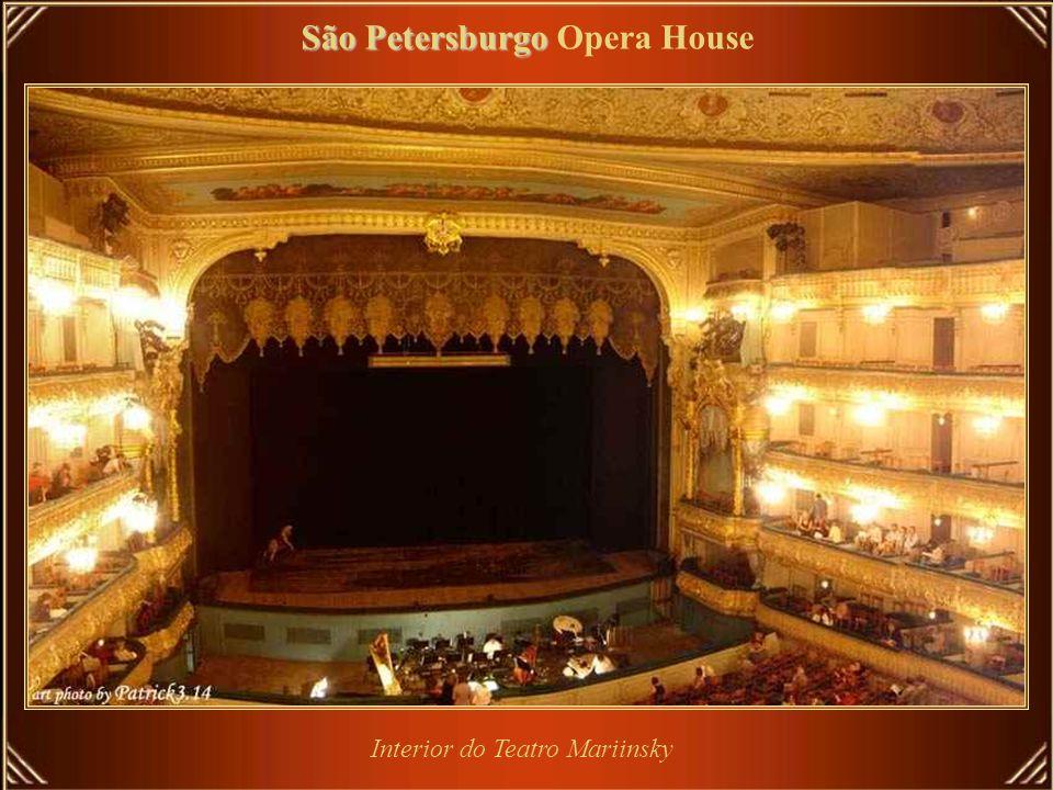 São Petersburgo São Petersburgo Opera House Teatro Mariinsky é teatro histórico de ópera e ballet da Rússia, onde estrearam muitas das obras primas de