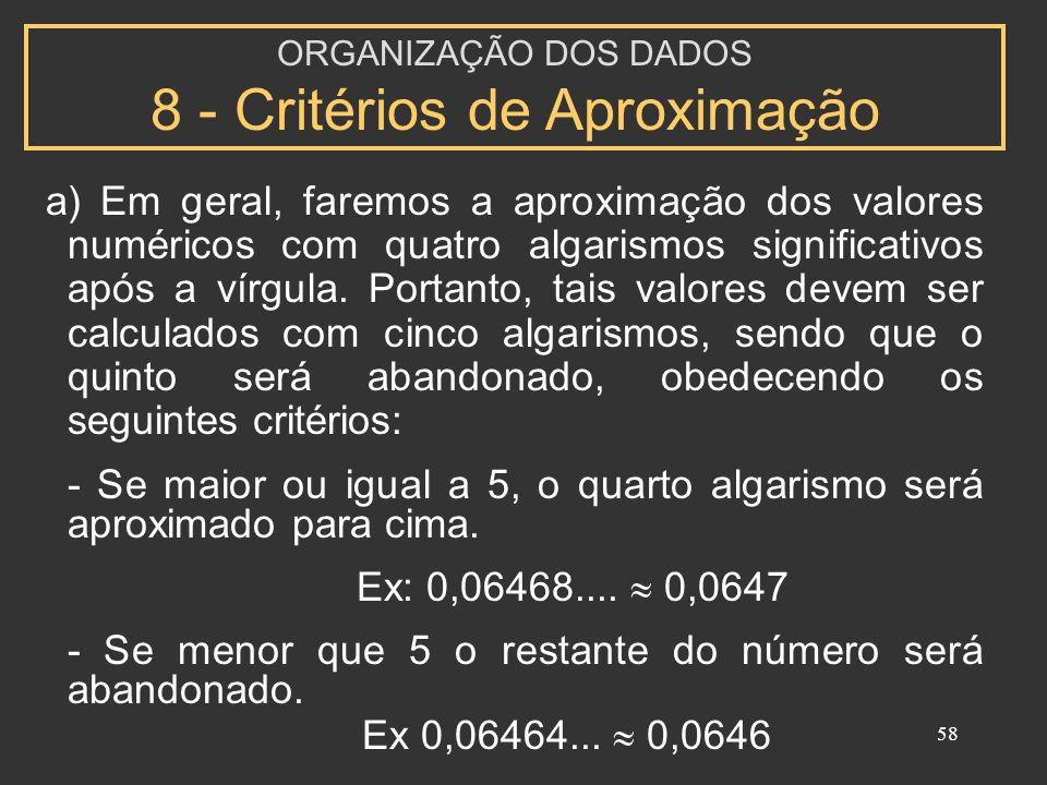 58 a) Em geral, faremos a aproximação dos valores numéricos com quatro algarismos significativos após a vírgula. Portanto, tais valores devem ser calc