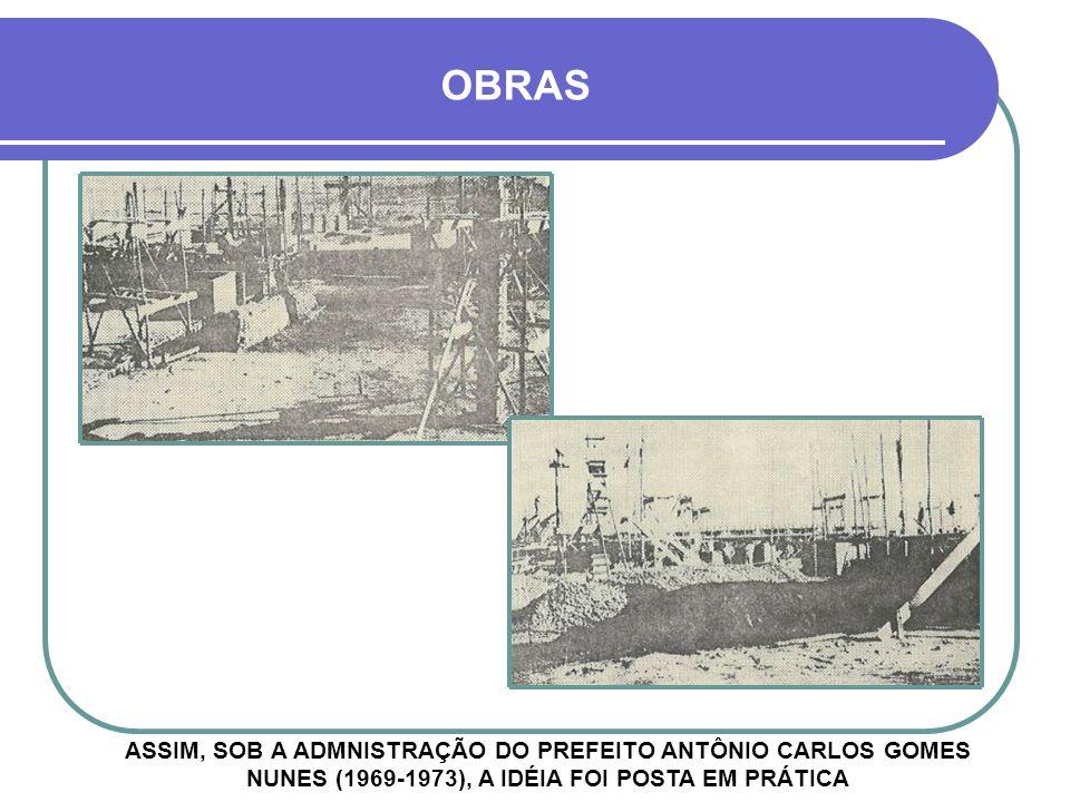 IGREJA DE FÁTIMA À ESQUERDA, CONSTRUÇÃO DO PRÉDIO NOVO DO BANCO DO BRASIL