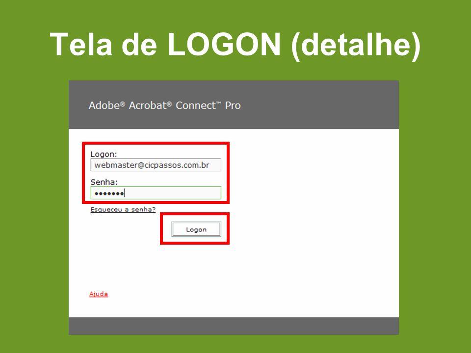 Tela de LOGON (detalhe)