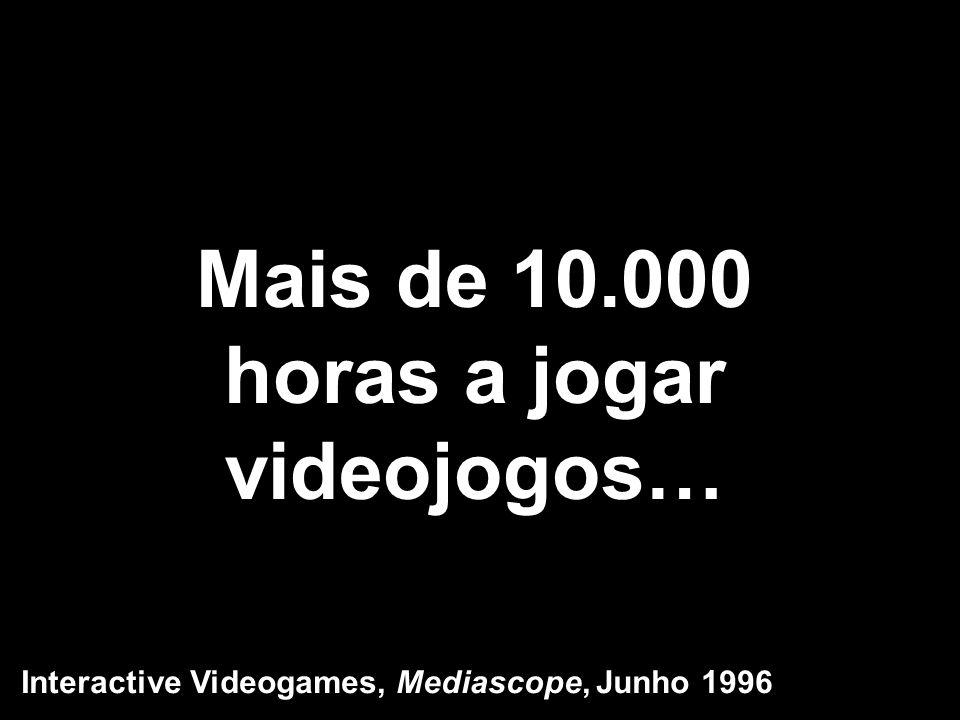 Mais de 10.000 horas a jogar videojogos… Interactive Videogames, Mediascope, Junho 1996