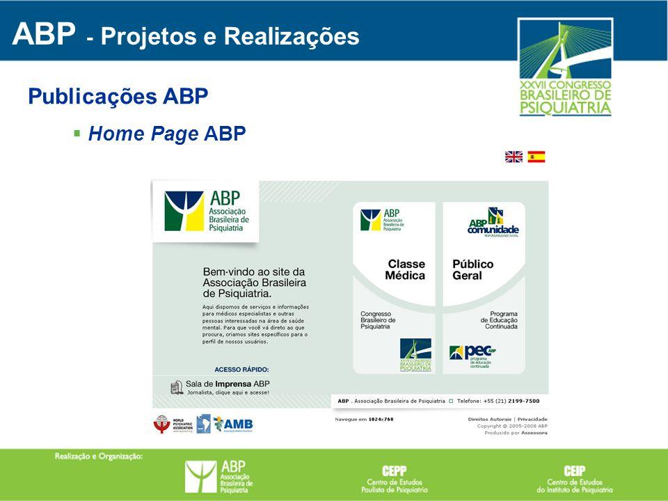Home Page ABP ABP - Projetos e Realizações Publicações ABP