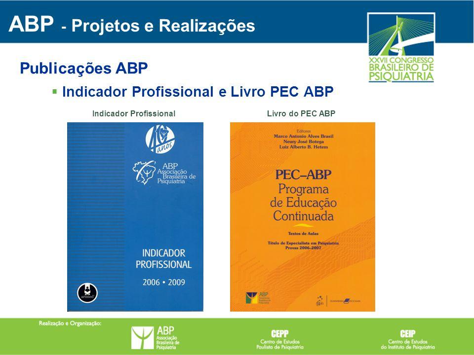 Indicador Profissional e Livro PEC ABP ABP - Projetos e Realizações Publicações ABP Livro do PEC ABP Indicador Profissional