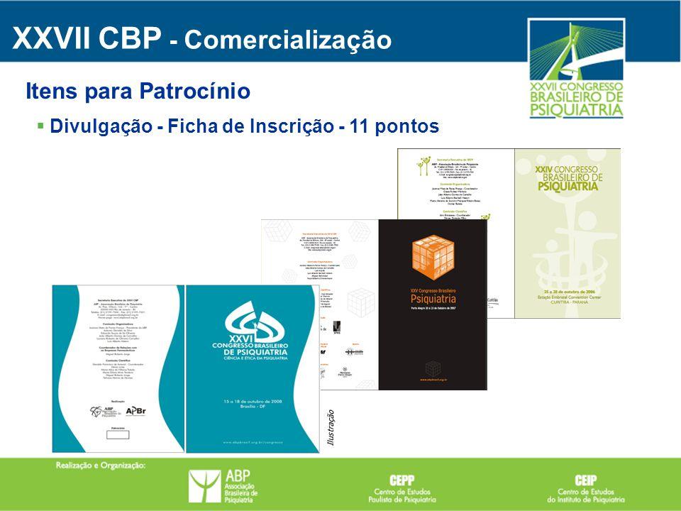 Divulgação - Ficha de Inscrição - 11 pontos XXVII CBP - Comercialização Itens para Patrocínio Ilustração