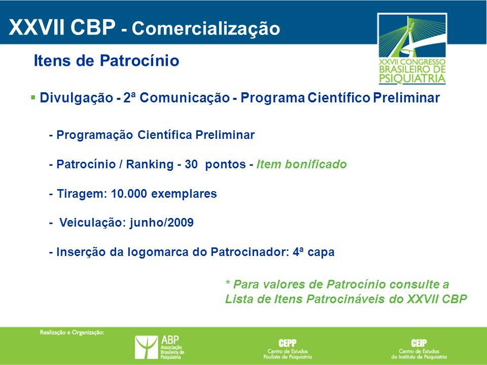 Divulgação - 2ª Comunicação - Programa Científico Preliminar - Programação Científica Preliminar - Patrocínio / Ranking - 30 pontos - Item bonificado