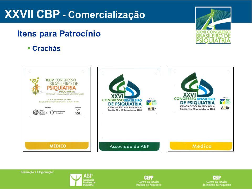 Crachás XXVII CBP - Comercialização Itens para Patrocínio