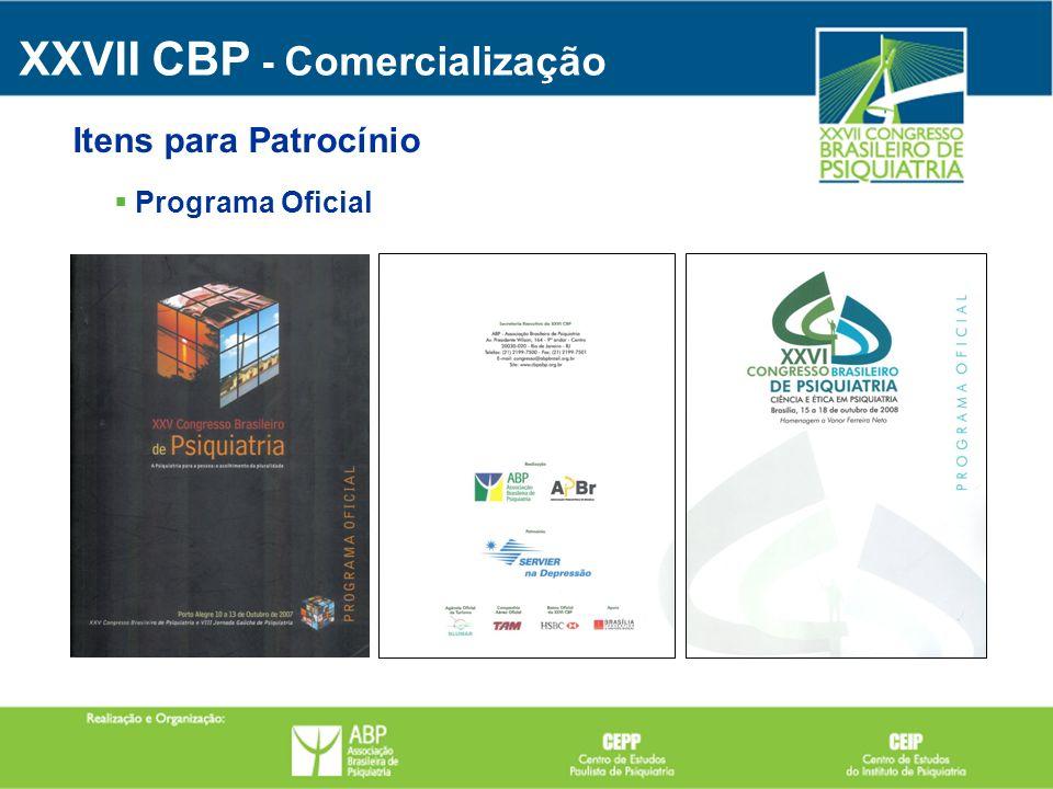 Programa Oficial XXVII CBP - Comercialização Itens para Patrocínio