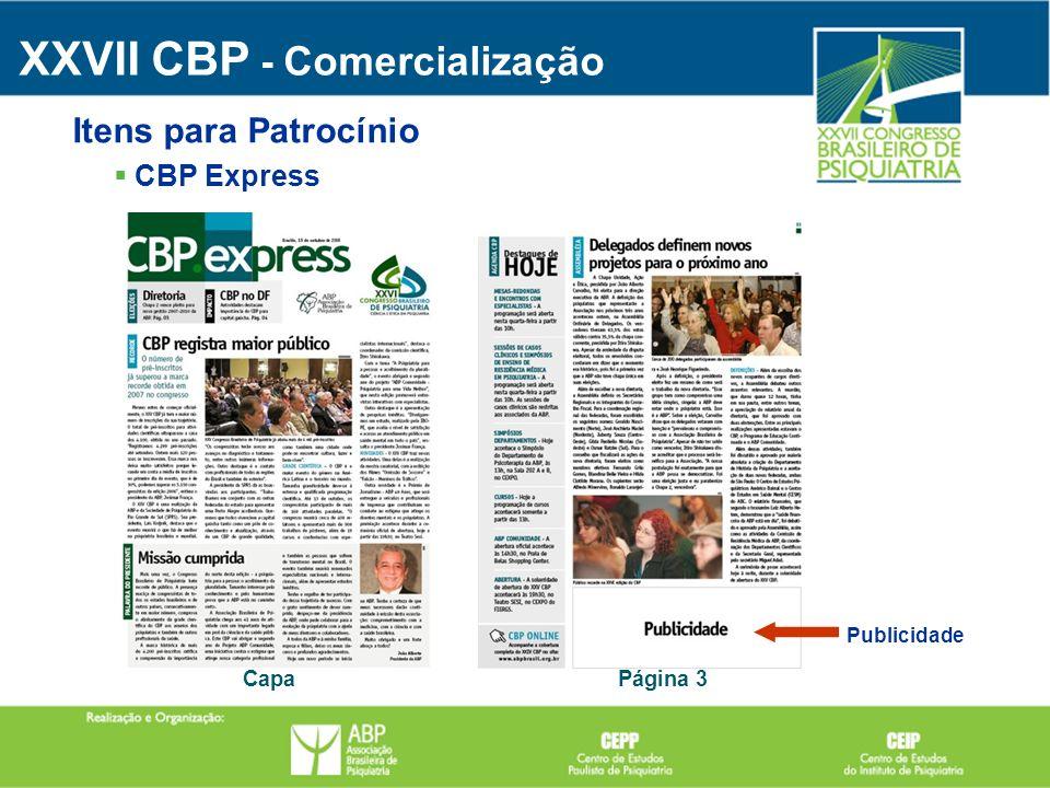 Publicidade Página 3Capa CBP Express XXVII CBP - Comercialização Itens para Patrocínio