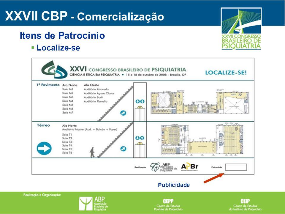 Publicidade Localize-se Itens de Patrocínio XXVII CBP - Comercialização