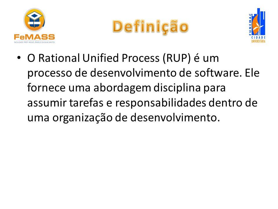 O Rational Unified Process (RUP) é um processo de desenvolvimento de software. Ele fornece uma abordagem disciplina para assumir tarefas e responsabil