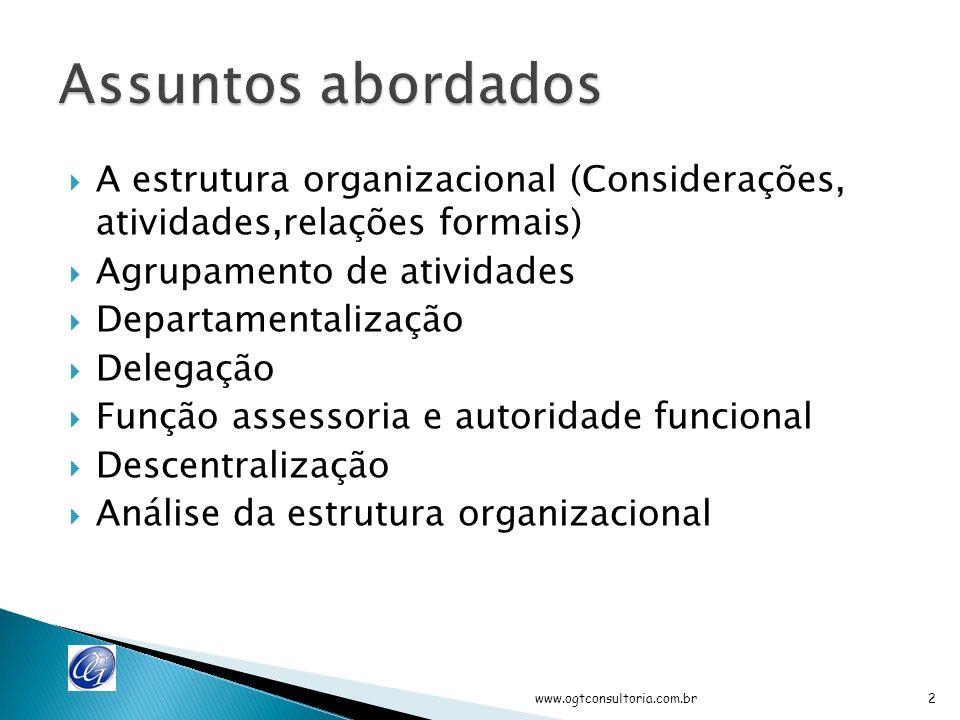 Outubro 2011 www.ogtconsultoria.com.br 1