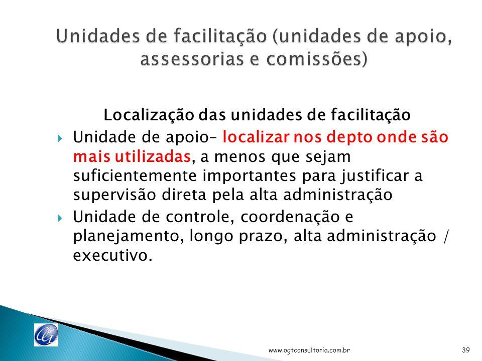 Unidades ou comissões são intencionalmente programadas para estabelecer um corte horizontal entre vários depto.