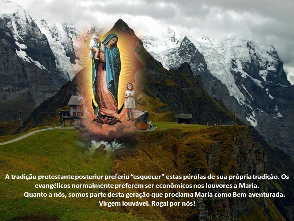 Até mesmo Lutero, um dos principais promotores da Reforma Protestante, do século 16, não foi tímido em elogiar Maria. Aceitava que ela é mãe de Deus.