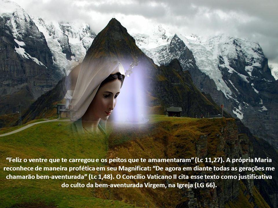 Alguns elogios que Maria recebeu ficaram famosos. O anjo Gabriel a chamou de graciosa, agraciada, ou cheia de graça (Lc 1, 28). Isabel a saudou como b