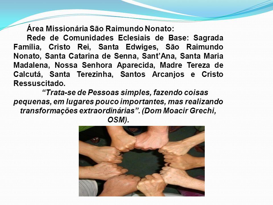 Área Missionária São Raimundo Nonato: Rede de Comunidades Eclesiais de Base: Sagrada Família, Cristo Rei, Santa Edwiges, São Raimundo Nonato, Santa Ca