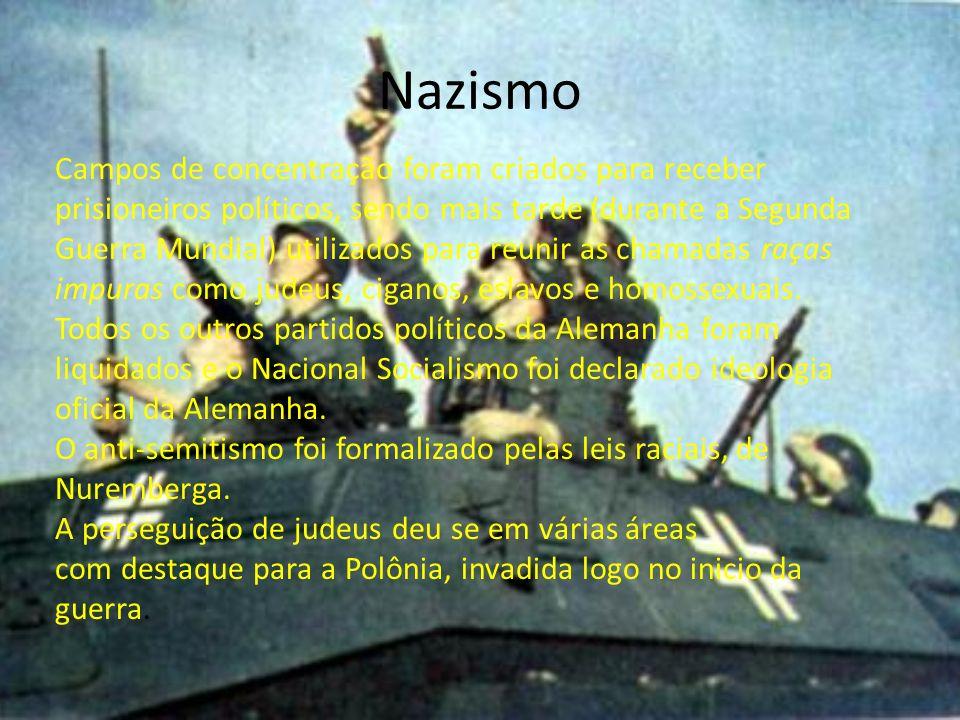 Sites: www.clubedosgenerais.org/www.clubedosgenerais.org/ - sobre a segunda guerra www.calvin.edu/academic/cas/gpa/sturmer.htmwww.calvin.edu/academic/cas/gpa/sturmer.htm - charges antisemintas www.dw-world.de/dw/article/0,1564,1469064,00.html www.france5.fr/2gm/ Filmes: A Queda - Os últimos de dias de Hitler (filme) A Lista de Schindler A Vida é Bela O Resgate do Soldado Ryan O Pianista Olga