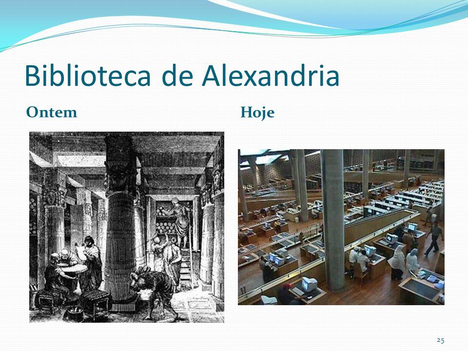 Biblioteca de Alexandria Ontem Hoje 25