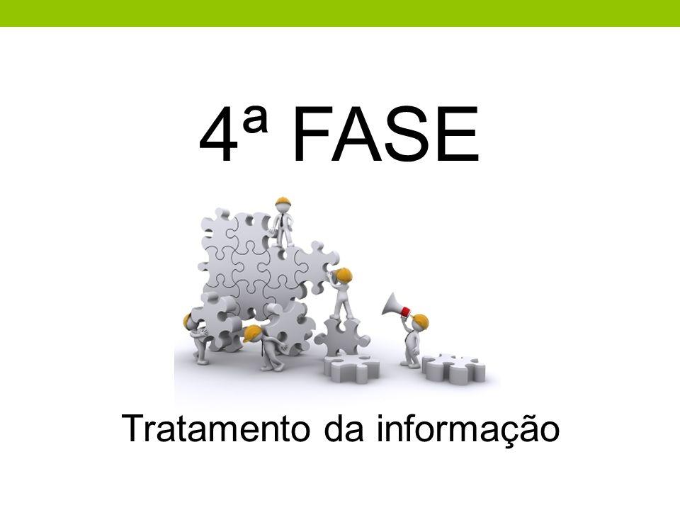 4ª FASE Tratamento da informação