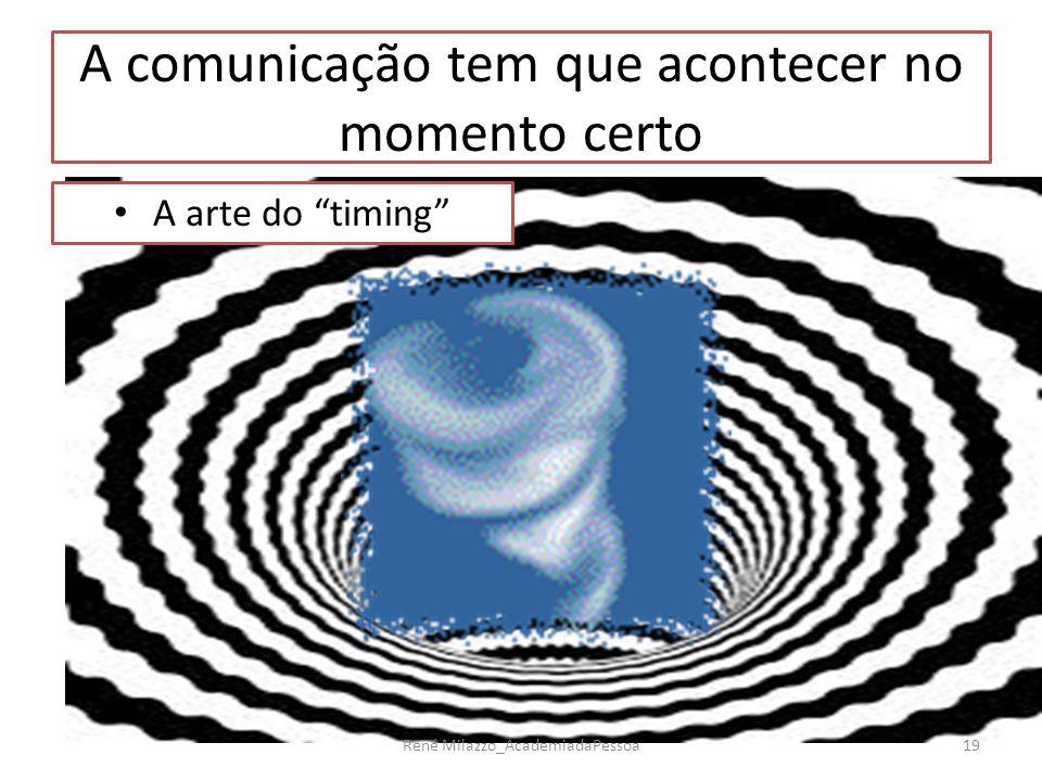 A comunicação tem que acontecer no momento certo A arte do timing 19René Milazzo_AcademiadaPessoa