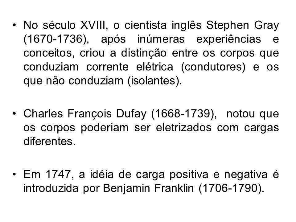 No século XVIII, o cientista inglês Stephen Gray (1670-1736), após inúmeras experiências e conceitos, criou a distinção entre os corpos que conduziam
