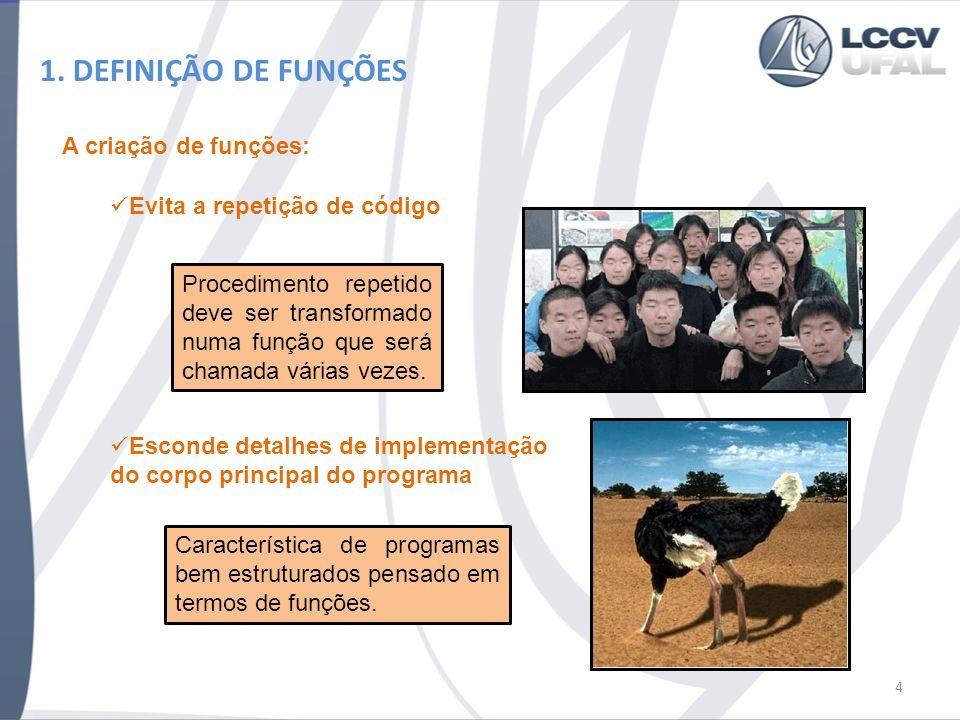 15 3.1. PASSANDO PONTEIROS PARA FUNÇÕES Análise Passo a Passo da Evolução do Programa