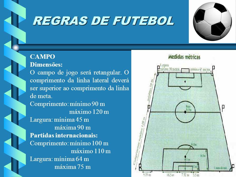 A autoridade do árbitro Cada partida será controlada por um árbitro, que terá autoridade total para fazer cumprir as Regras do jogo na partida para a qual tenha sido designado.