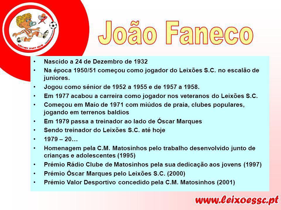Nascido a 24 de Dezembro de 1932 Na época 1950/51 começou como jogador do Leixões S.C. no escalão de juniores. Jogou como sénior de 1952 a 1955 e de 1