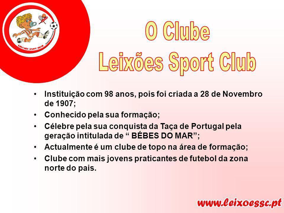 Instituição com 98 anos, pois foi criada a 28 de Novembro de 1907; Conhecido pela sua formação; Célebre pela sua conquista da Taça de Portugal pela ge