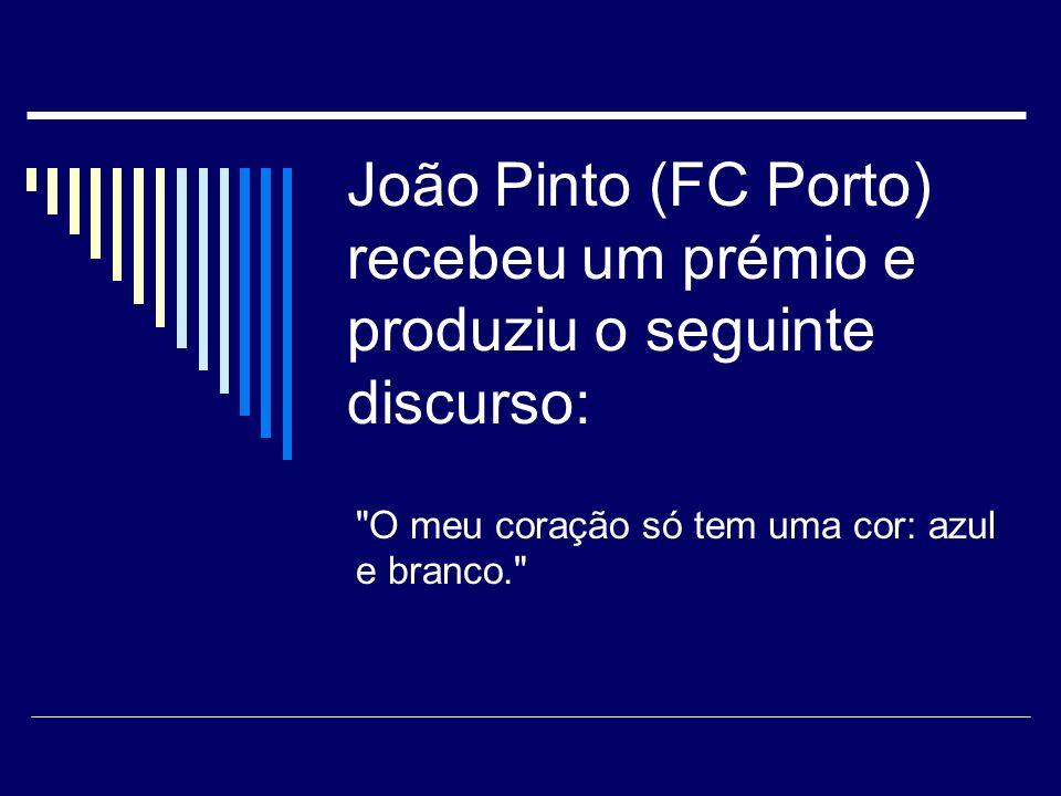 Repórter: - João Pinto (FC Porto), prognósticos para este encontro? JP: - Prognósticos só no fim do jogo.