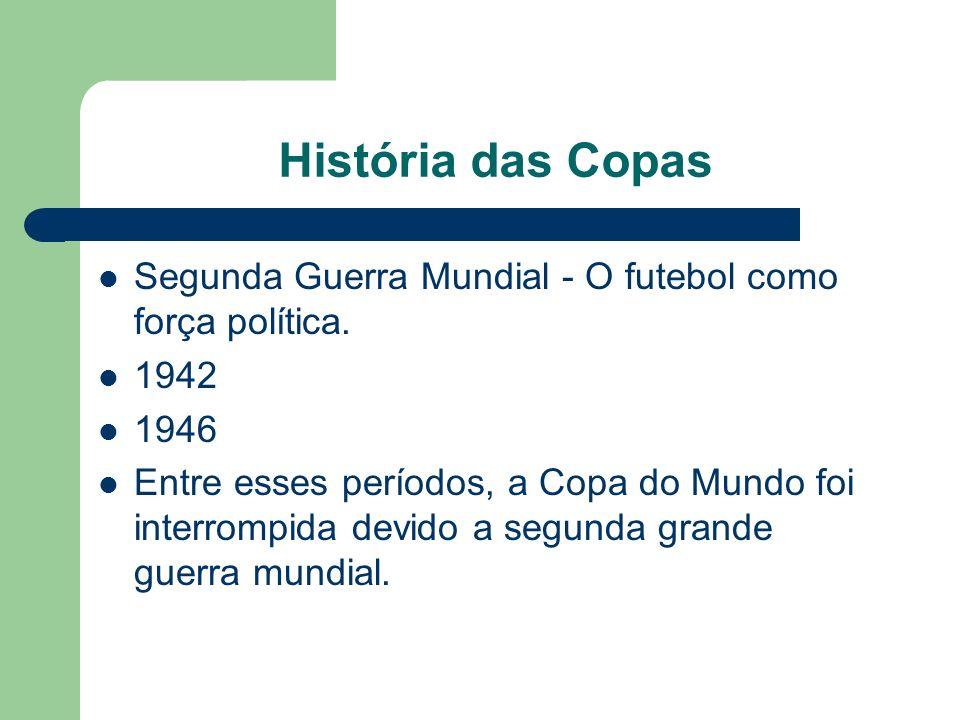 História das Copas Segunda Guerra Mundial - O futebol como força política.