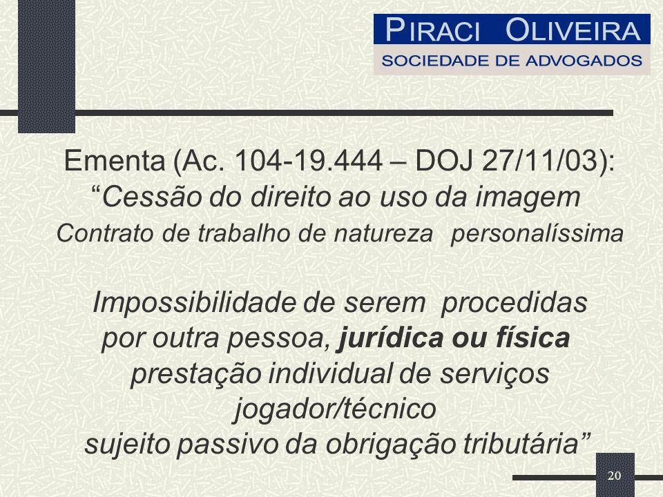 20 Ementa (Ac.