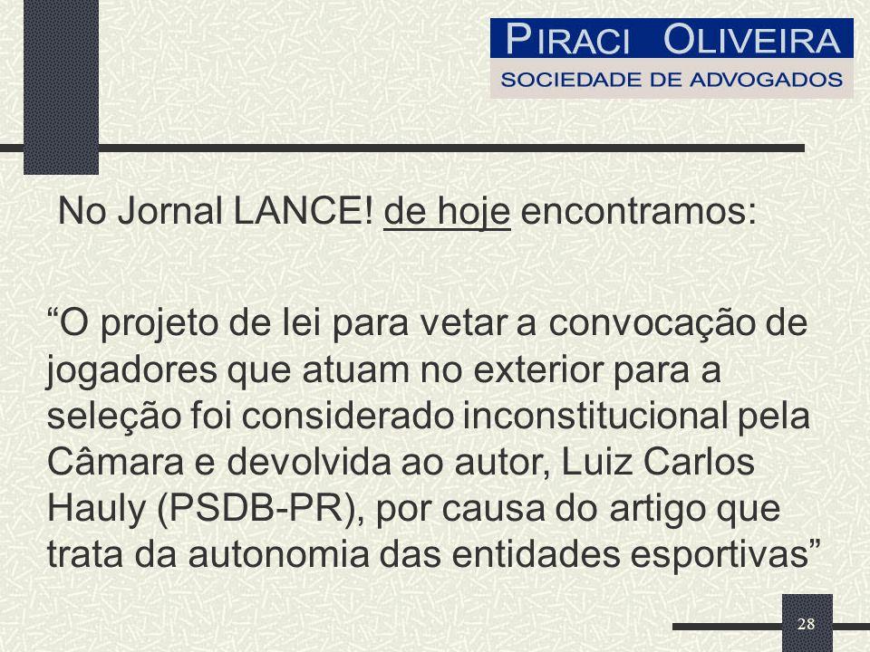 28 No Jornal LANCE.