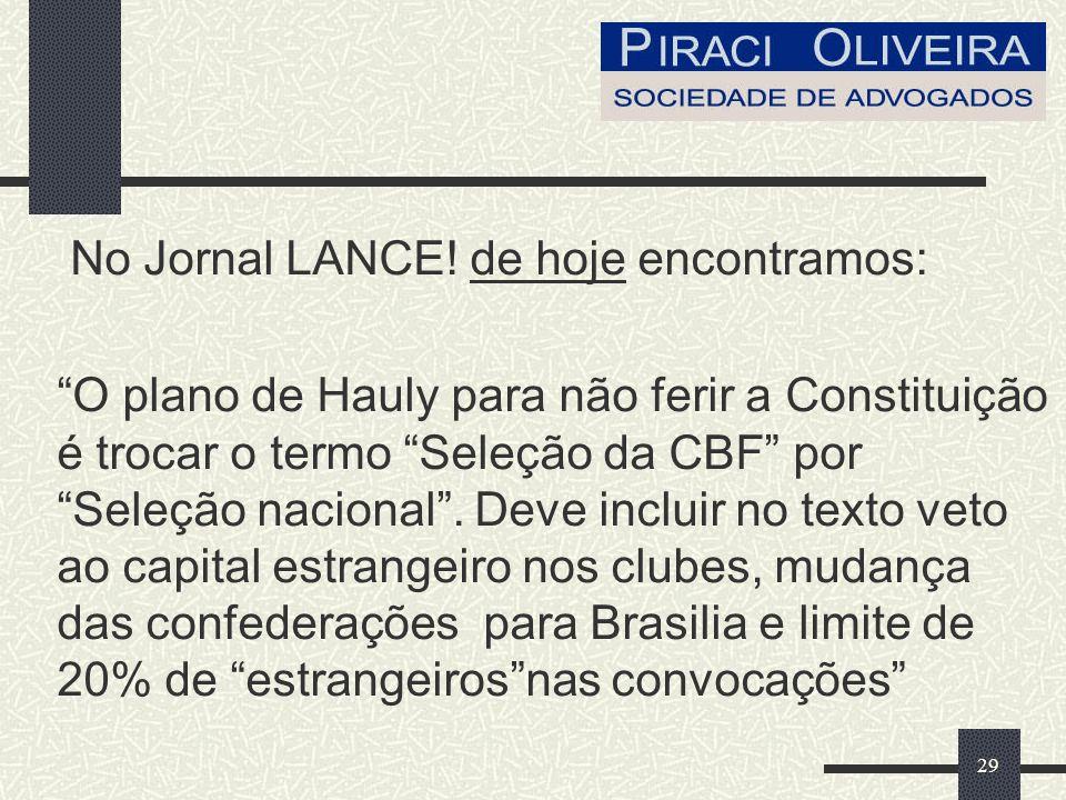 29 No Jornal LANCE.