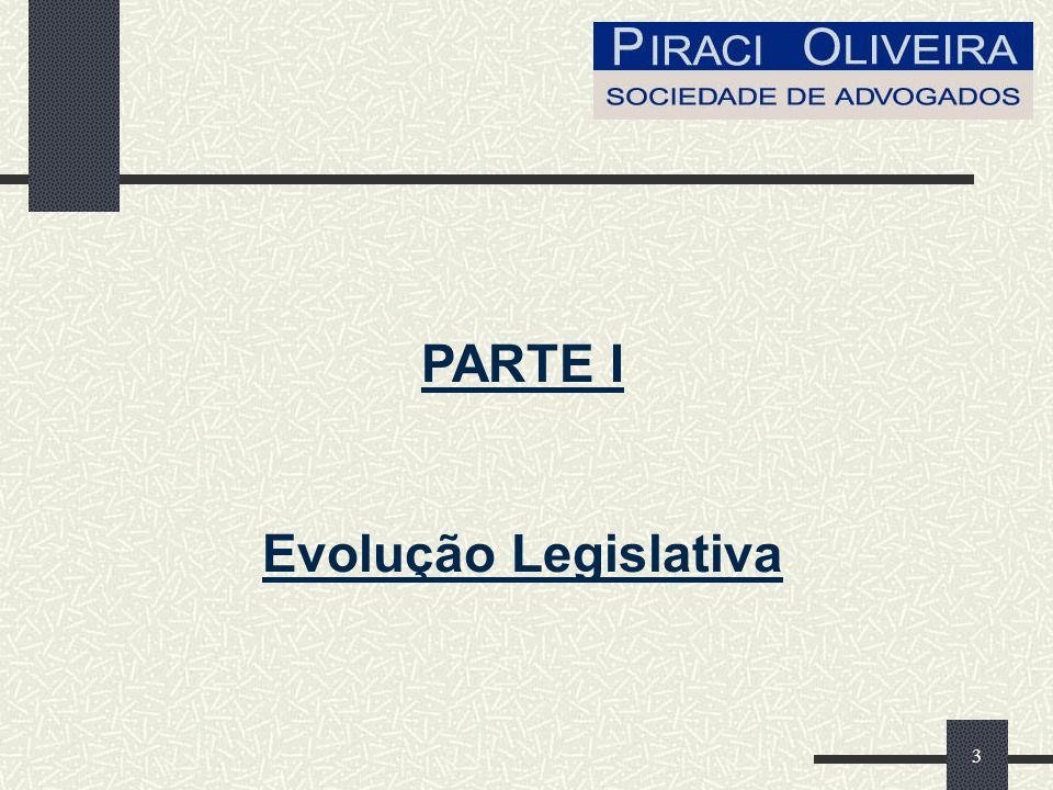 3 PARTE I Evolução Legislativa