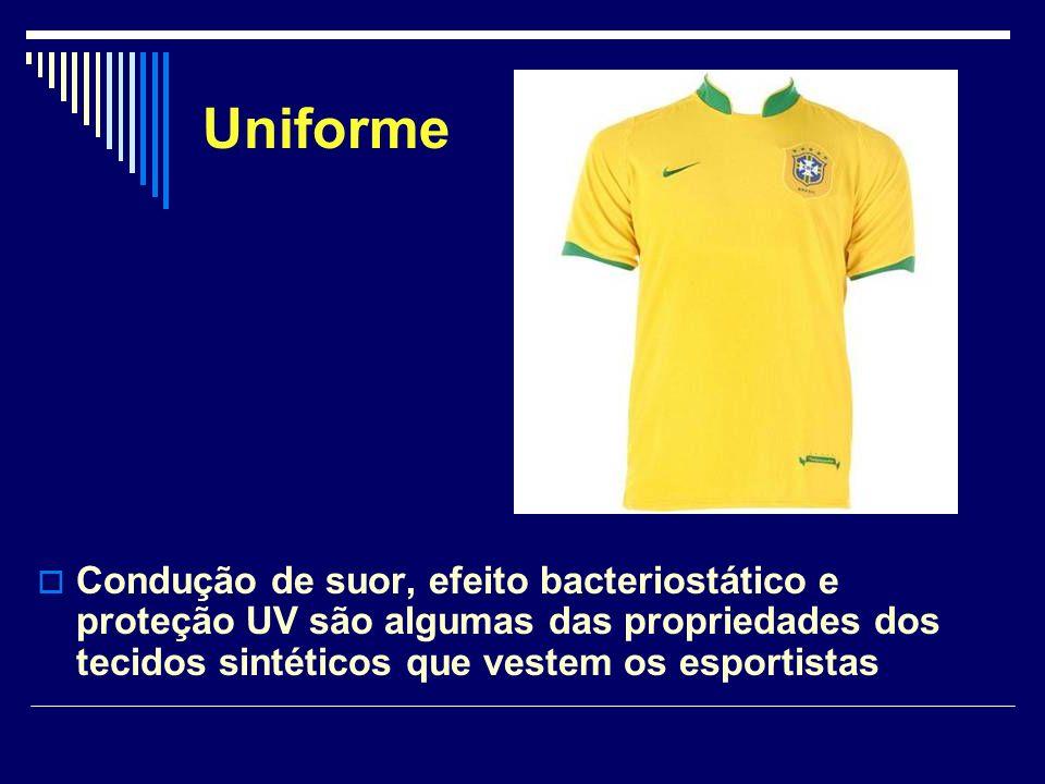 Os uniformes dos times que participaram da Copa do Mundo de Futebol do ano passado são verdadeiras vitrines para o avanço da química aplicada à tecnologia têxtil.
