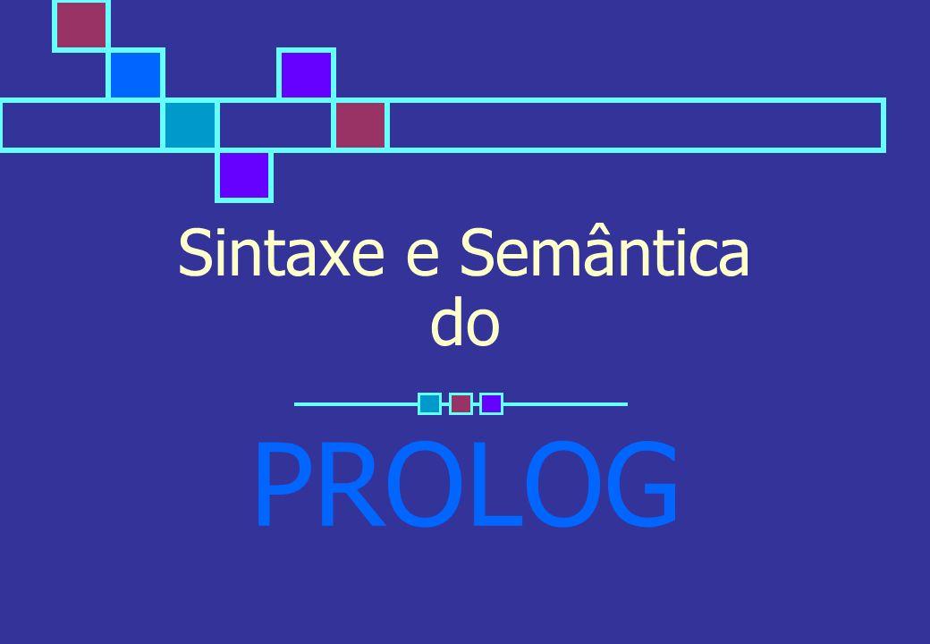 Lógica para Programação 2 Introdução à programação em Prolog PROLOG = PRO gramming in LOG ic Linguagem baseada num subconjunto da lógica de predicados de 1ª ordem (cláusulas de Horn) programa = conjunto de cláusulas (axiomas) Cláusulas: A :- A1,..., An.Regra ou cláusula não unitária A é verdadeiro se A1 e...