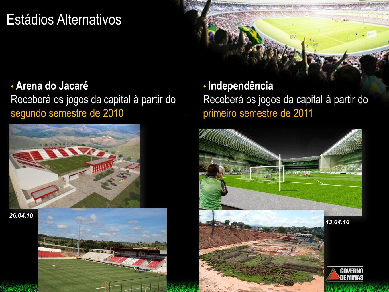 Estádios Alternativos Arena do Jacaré Receberá os jogos da capital à partir do segundo semestre de 2010 Independência Receberá os jogos da capital à p