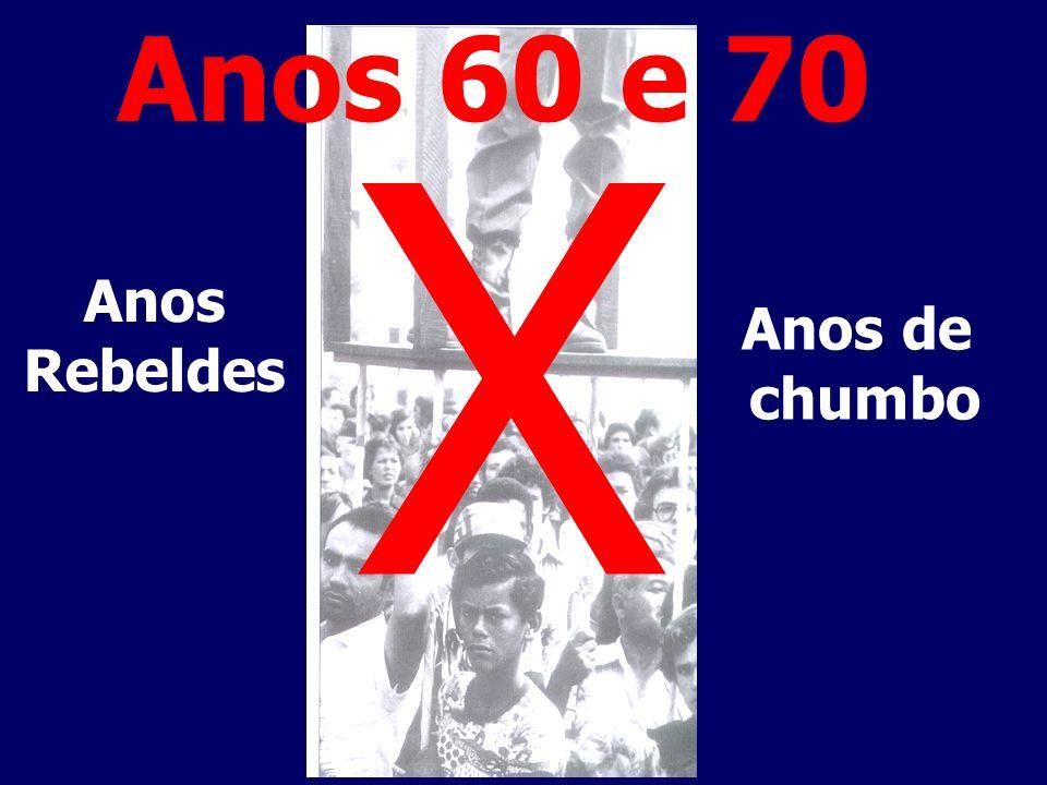 Anos Rebeldes X Anos de chumbo Anos 60 e 70