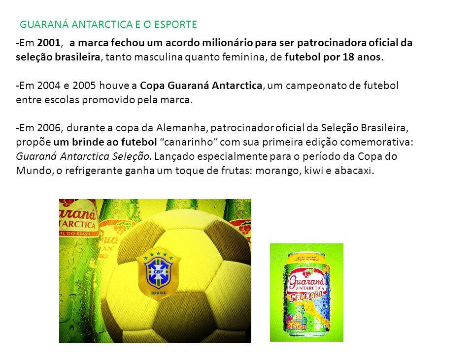 GUARANÁ ANTARCTICA E A COPA DO MUNDO A primeira e principal ação do Guaraná Antarctica para a Copa do Mundo foi lançada em outubro de 2005.