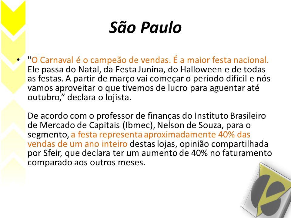 Bahia Seguindo o exemplo do que ocorre no eixo Rio de Janeiro - São Paulo, o carnaval da Bahia deverá movimentar pouco mais de R$ 750 milhões.