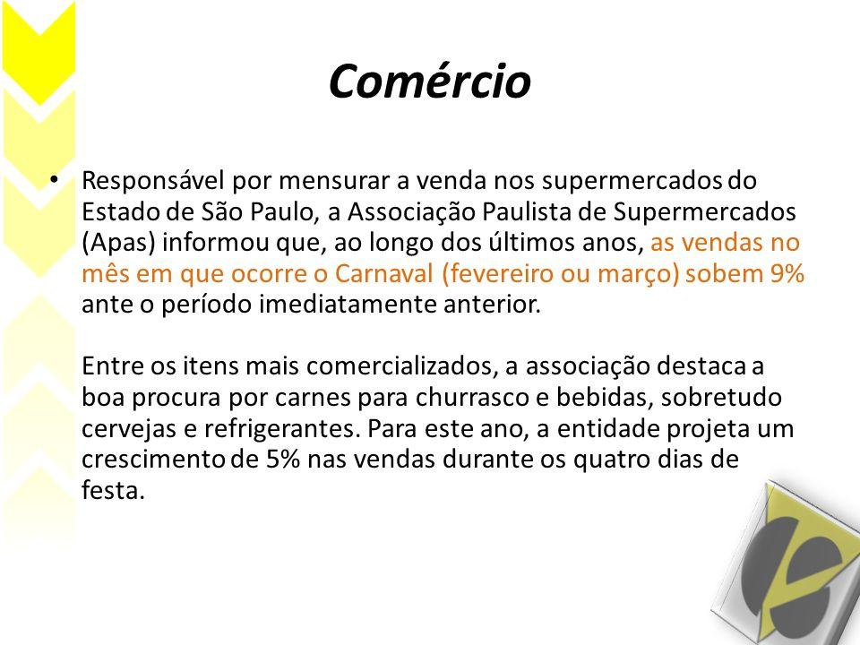 Comércio Responsável por mensurar a venda nos supermercados do Estado de São Paulo, a Associação Paulista de Supermercados (Apas) informou que, ao lon