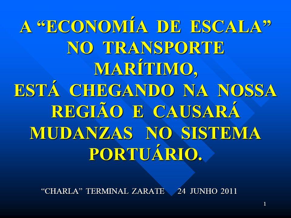 A ECONOMÍA DE ESCALA NO TRANSPORTE MARÍTIMO, ESTÁ CHEGANDO NA NOSSA REGIÃO E CAUSARÁ MUDANZAS NO SISTEMA PORTUÁRIO.
